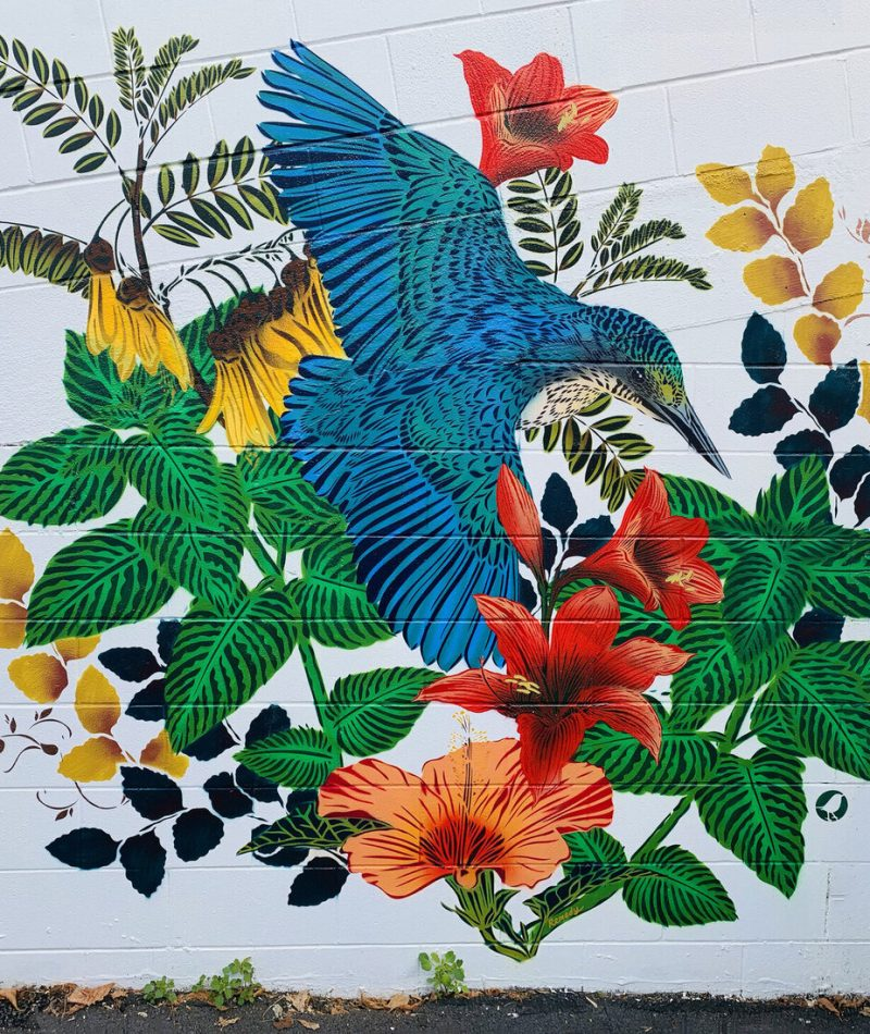 UAM001 - Floral Kingfisher by Flox (small)